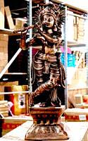 "Статуя силуминовая дутая ""Кришна"" (65х20х20 см)"