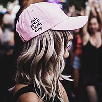 Кепка стильная Anti Social Social Club лого вышивка