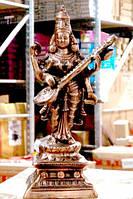 """Статуя силуминовая дутая """"Сарасвати"""" (52х18х14 см)"""