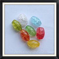 Бусины Crackle Боченок 1,2*0,8 см