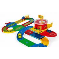 """Игровой набор Kid Cars """"Вокзал"""" с дорогой 5 м Wader (Вадер) 51792"""