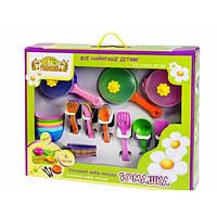 Набор игрушечной посуды столовый Ромашка 43 элемента 39149