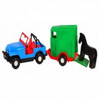 Игрушечная машинка авто-сафари с прицепом  Wader 39006
