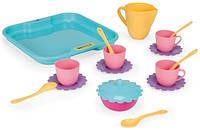 Набор игрушечной посуды на подносе Wader 22030  17 элементов