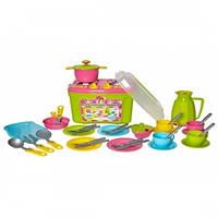 Набор детской посуды с плитой в чемоданчике 9 ТЕХНОК (3596)