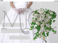 """Схема для вышивки бисером """"Свадебная метрика"""""""