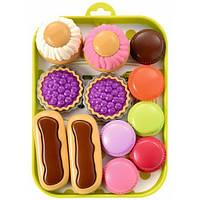 Набор пирожных на подносе 13 аксес. Ecoiffier 000980