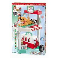 """Игровой набор """"Ветеринарная клиника"""" с тележкой и переноской для щенка, 15 аксес., 18мес. + ECOIFFIER 001909"""