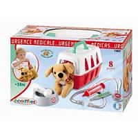 """Игровой набор """"Ветеринарная клиника"""" с переноской для щенка, 8 аксес., 18мес. + ECOIFFIER 001907"""