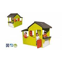 Дом садовый с кухней-барбекю, звонком, 185х109х148 см, 3+  SMOBY TOYS  310300