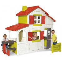 Дом двухэтажный с кухней-барбекю, звонком, 250x157x209 см, 3+  SMOBY TOYS  320023