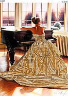 """Схема для вышивки бисером """"Пианистка"""""""