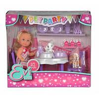 """Кукольный набор Эви """"Вечеринка для домашних любимцев"""" со сладостями и аксес., 3+  SIMBA TOYS  5732831"""