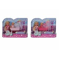 Кукольный набор Эви с малышом в кроватке, 2 вида, 3+  SIMBA TOYS  5736242