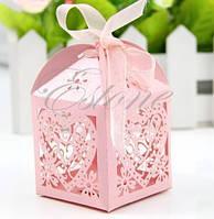 Бонбоньерки свадебные розовые