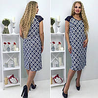Летнее женское платье ниже колен большой размер, фото 1