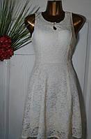 Платье кружевное с открытой спиной беж B178 44-48р