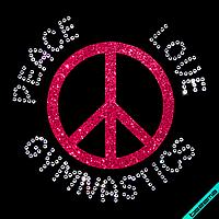 Термопереводки на плащи Peace love gymnastics