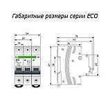 """Автоматический выключатель АВ 2000 2п 25А """"С"""" ECO, фото 2"""