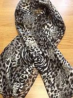 Шарфики женские атласные тигровые
