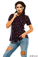 Женская летняя рубашка с вишенкой