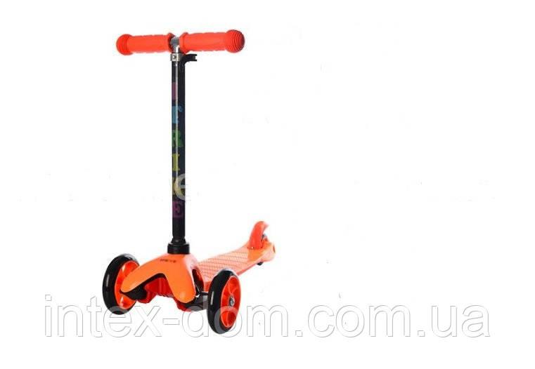 Трехколесный самокат iTrike BB 3-013-4-D O (Оранжевый) с PVC-колесами