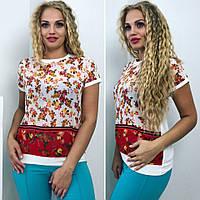 Летняя женская блуза шифон