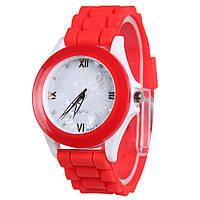 Часы спортивные на силиконовом браслете, красные часы