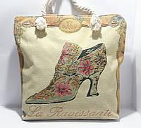 Пляжная текстильная летняя сумка для пляжа и прогулок Туфелька