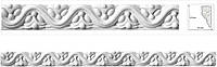 Филенка, орнамент из гипса/ Декоративная фасадно-внутренняя лепнина.