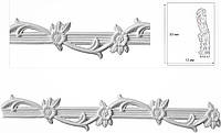 Филенка-фриз, 3-d орнамент на стене