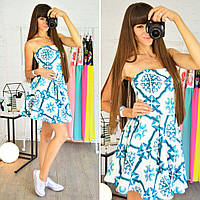 Платье из неопрена с пышной юбкой 0500-6