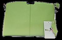 Прямоугольная женская сумочка из натуральной кожи мятного цвета VQX-214255