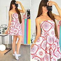 Платье из неопрена с пышной юбкой 0500-7