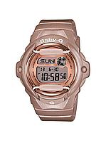 Женские часы Casio BG169G-4 Baby G Pink Касио противоударные японские кварцевые