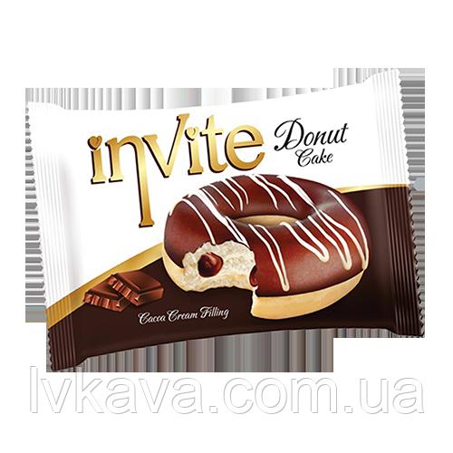 Пирожное-донат  INVITE c шоколадным соусом , 45 гр
