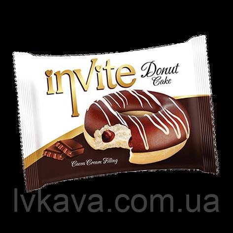 Пирожное-донат  INVITE c шоколадным соусом , 45 гр , фото 2
