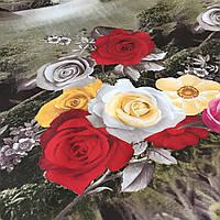 Ранфорс с 3д-рисунком Розы, фото 1