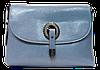 Прекрасная женская сумочка из натуральной кожи светло-синего цвета JJN-210707
