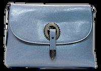 Прекрасная женская сумочка из натуральной кожи светло-синего цвета JJN-210707, фото 1