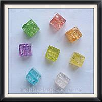 Бусины Crackle Куб 0,8*0,8*0,8 см