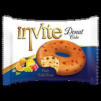 Пирожное-донат  INVITE c фруктами , 45 гр