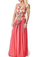 Яркое летнее платье в пол (92301 br)