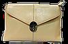 Нежная женская сумочка из натуральной кожи бежевого цвета NNC-211217