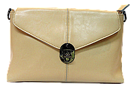 Нежная женская сумочка из натуральной кожи бежевого цвета NNC-211217, фото 1