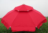 Зонт садовый, пляжный, торговый 2,5м с клапаном. Антиветер. Плотный материал!