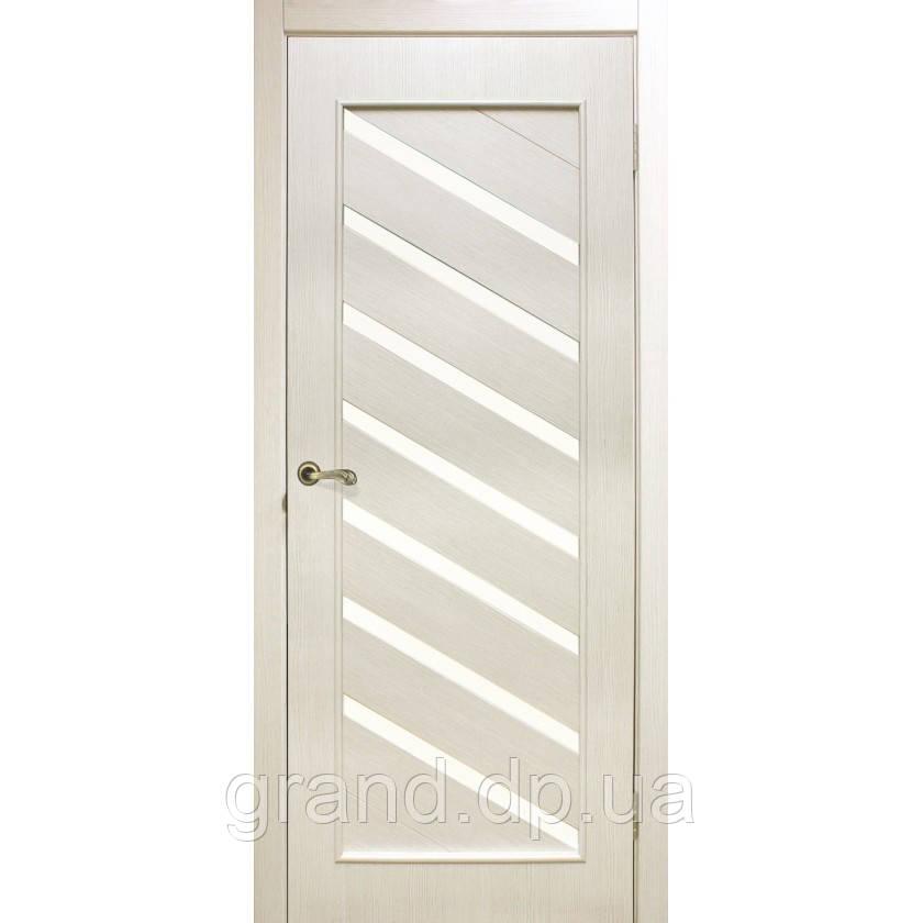 """Дверь межкомнатная остекленная """"Паула экошпон"""" цвет сосна сицилия"""