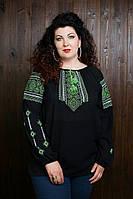 Женская вышиванка зеленый орнамент 1506/38