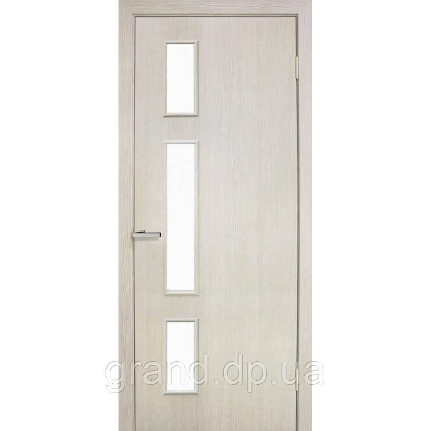 Двери межкомнатные Омис Соло экошпон остекленная,  цвет сосна сицилия