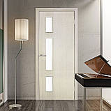 Двери межкомнатные Омис Соло экошпон остекленная,  цвет сосна сицилия, фото 2